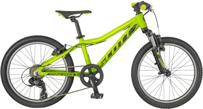 Scott Scale 20 inch wheel kids MTB is one of the cheapest, well specified mountain bikes on the market