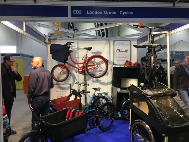 London Green Cycles stand at the London Bike Show