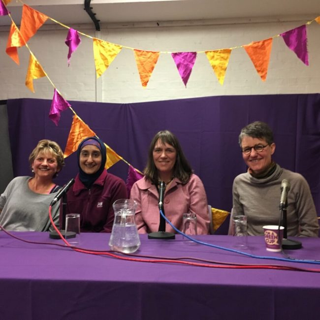 The panellists of the Family Cycling discussion at the Women and Bicycles Festival WAB2017 in Oxford, March 2017
