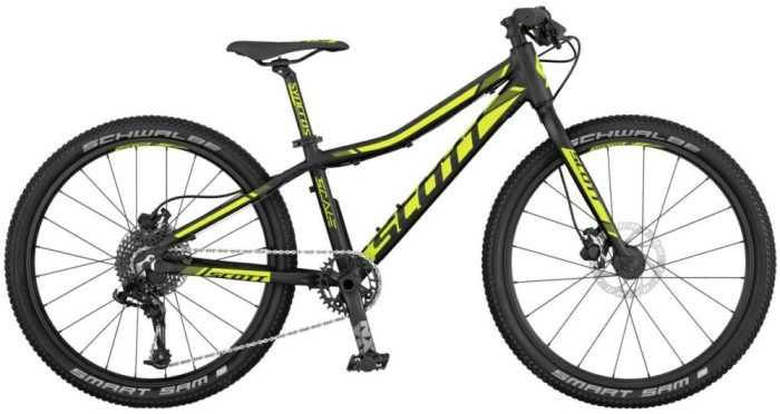 Scott Scale RC Jr 24 in black/yellow - kids 24 inch wheel mountain bikes