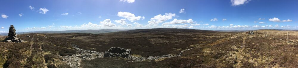 Stunning 360 degree views in the Yorkshire Dales