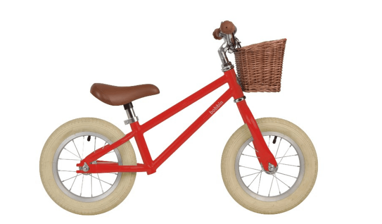 Bobbin Moonbug Balance Bike in red