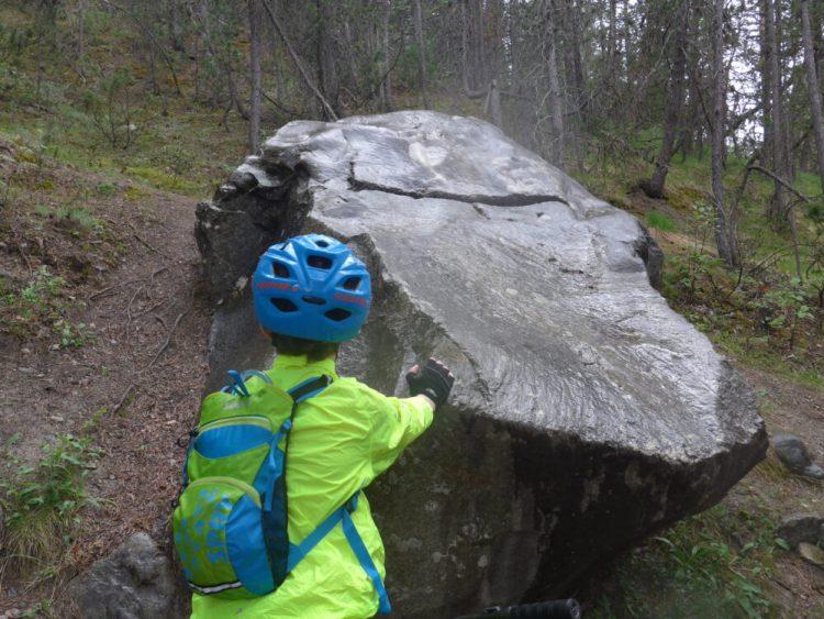 A scarifical stone near Briancon, French Alps