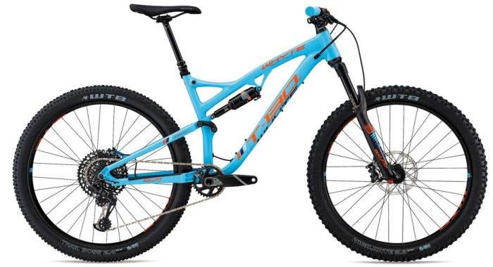 Whyte T-130S in blue is one of the best full suspension kids mountain bikes