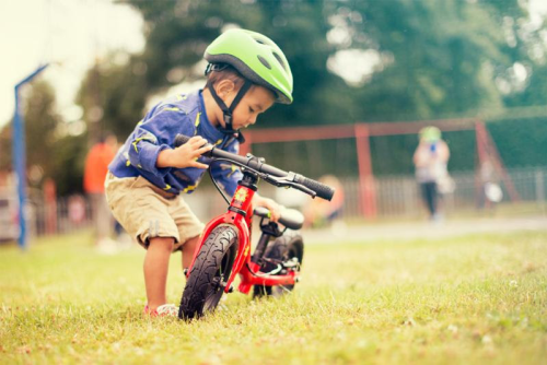 Frog Tadpole Mini Balance Bike in use
