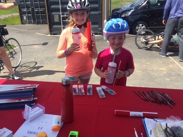 Go Ride goodies at the Brownlee Centre