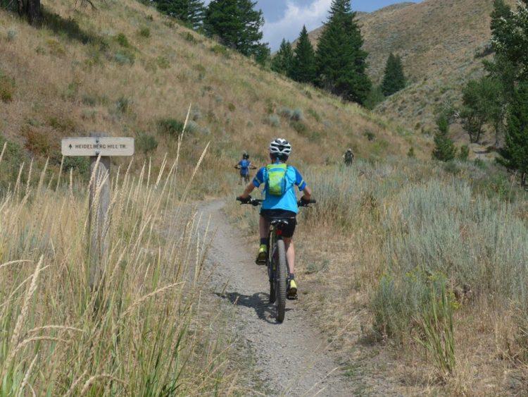 Start of the Heidelberg Hill Trail Ketchum Sun Valley Idaho