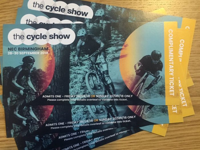 Win Tickets for the 2018 Cycle Show