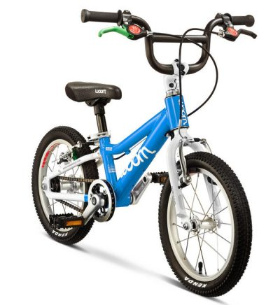 "WOOM 2 kids bike - the lightest of the 14"" wheel kids bikes available in the UK, suitable for children aged 3 years, 4 years and 5 year olds."