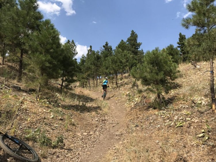 Riding up the McKelvey Trail in Helena, Montana