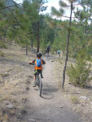 Single track downhill in Helena Montana
