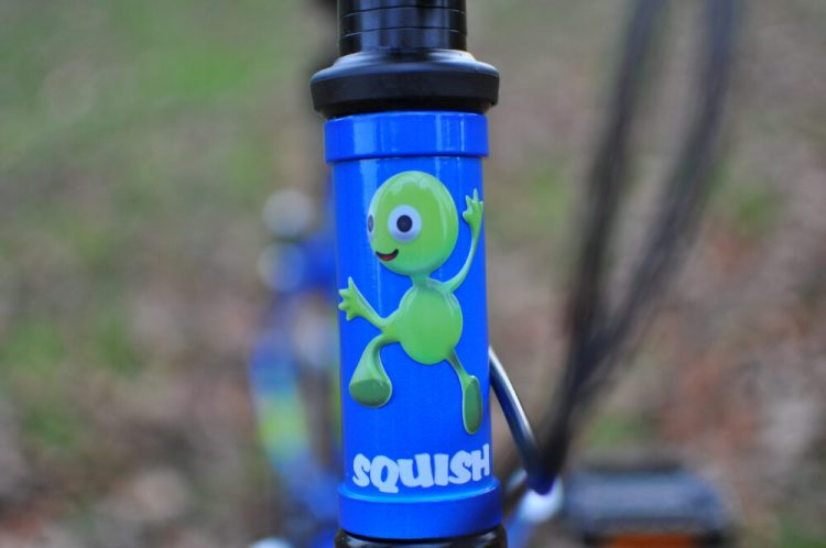 "The best kids 18"" wheel bikes - Squish 18 head badge"