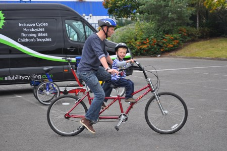 Bike Buddy - parent and child tandem bike
