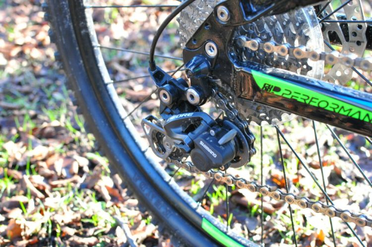 kids full suspension mountain bike - Cuda Impact Shimano Deore rear mech