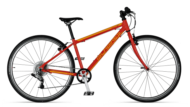 "Beinn 27 Red - a 275"" wheel kids hybrid bike"