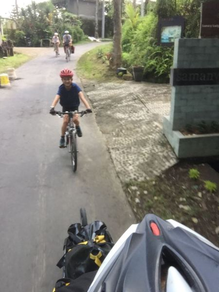 Family cycling holiday Bali