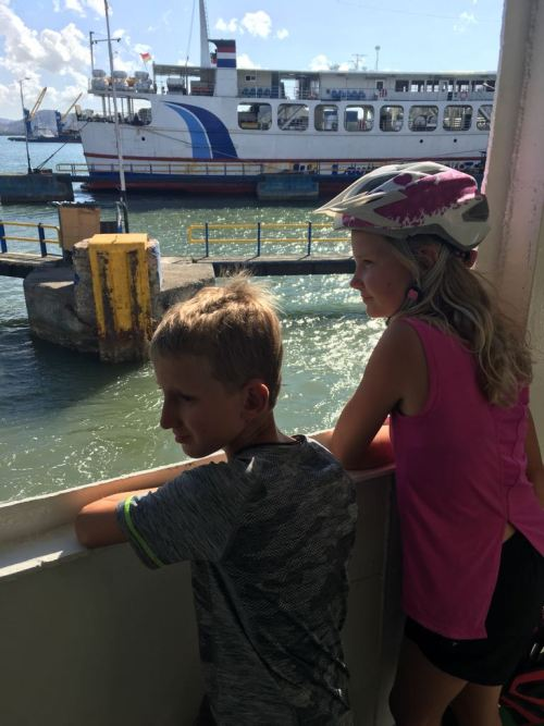Slow ferry leaving Lembar