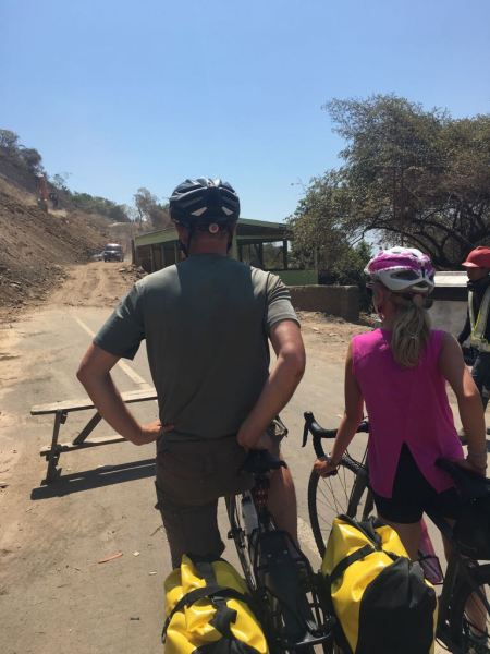 The road runs out - family bikepacking holiday Lombok Indonesia