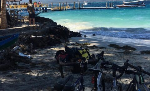 Family bikepacking Gili Air Indonesia