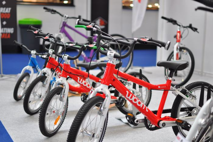 Woom Kids Bikes showcased at the 2018 Cycle Show