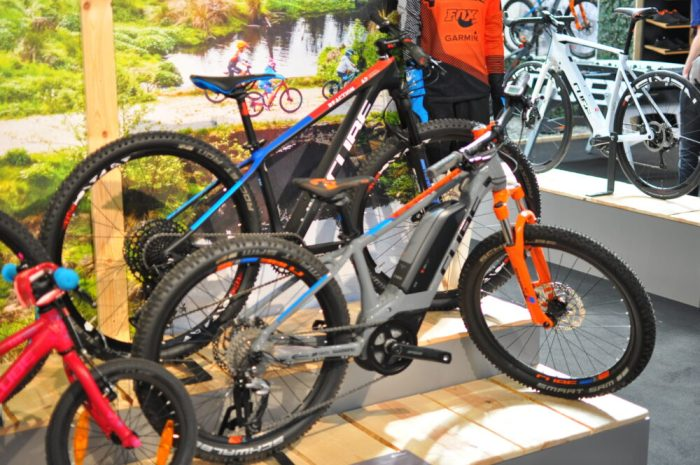 Cube kids e-bike on display at the 2018 Cycle Show