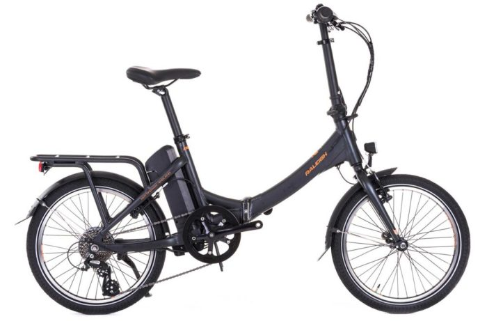 Raleigh Stow E Way 2019 is an e-assist folding bike suitable for commuting with an electric e-bike