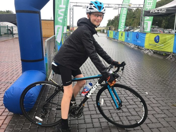 Riding the Tour of Britain Family Sportive on the Worx JA700