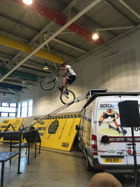 BMX skills at the Yorkshire Cycle Expo 1
