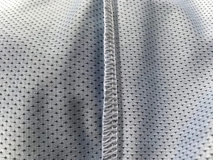 Cube Action Essentials MTB Jersey stitching close up