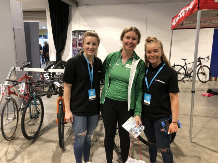 Meeting riders at In Sync Kids Bikes at the Cycle Expo Yorkshire 2018
