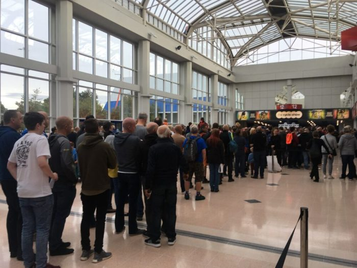 Queues to get into the Cycle Show at the NEC