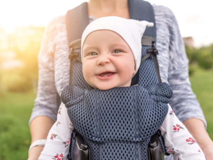 Is it safe to cycle with my baby in a sling or papoose?