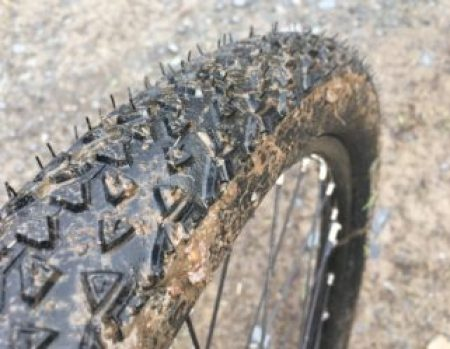 Removing the rubber hairs on a mountain bike