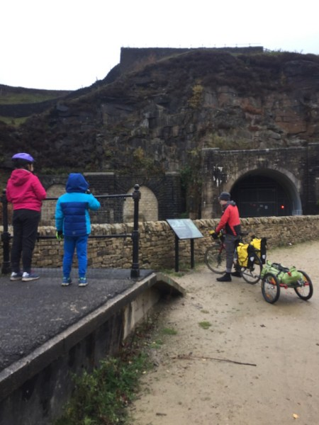 Woodhead Tunnel on the Trans Pennine Trail - you need to push from here for a bit if you're cycling with kids