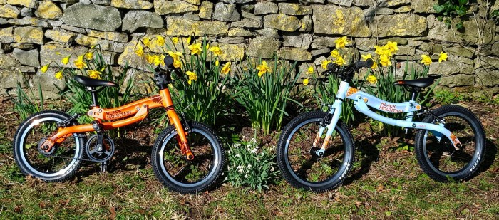 Black Mountain Bike Pinto and Skog balance bikes that grow with your child into a pedal bike