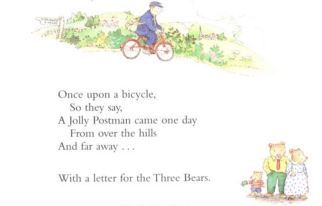 The Jolly Postman - a childrens book that features people cycling