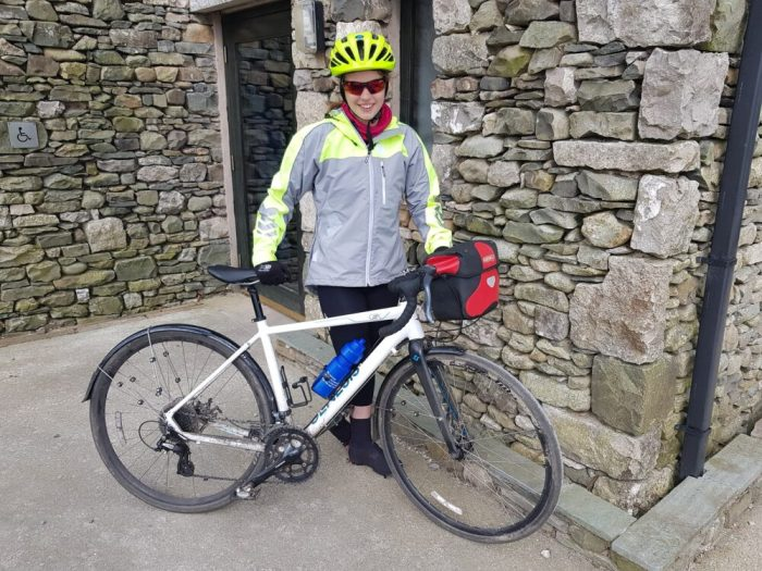 Hannah Killick - a 12 year old riding Lands End to John O'Groats