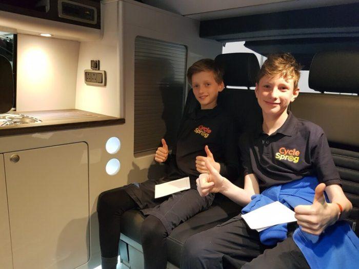 Inside a Camper Van at the London Bike Show