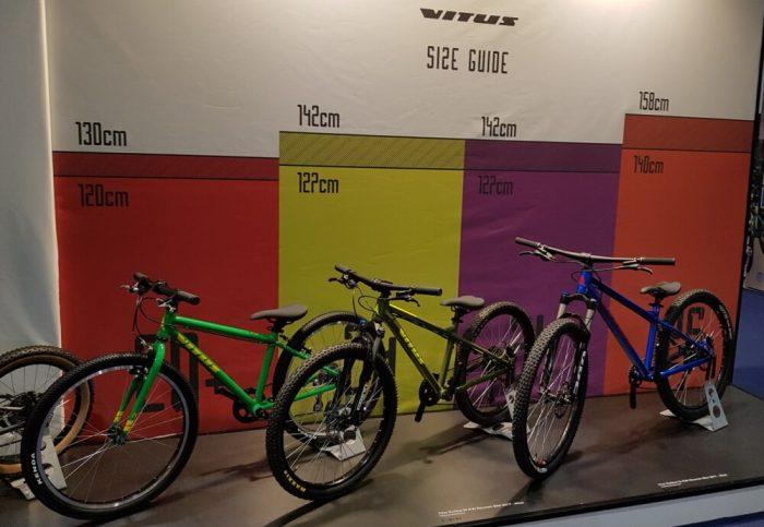 Vitus kids mountain bikes - the Nucleus range at the London Bike Show