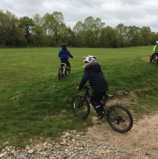 Big and little doing the off road riding