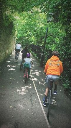 David Beckham family bike ride