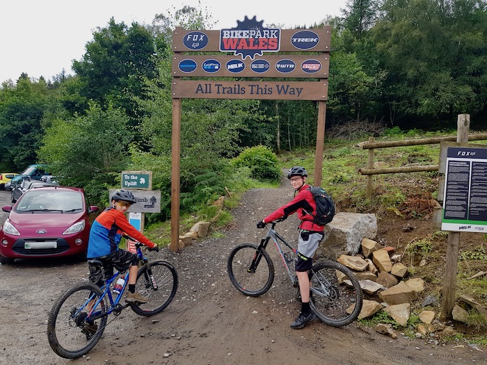 Cycle Sprogs at the start of the trails - Bike Park Wales