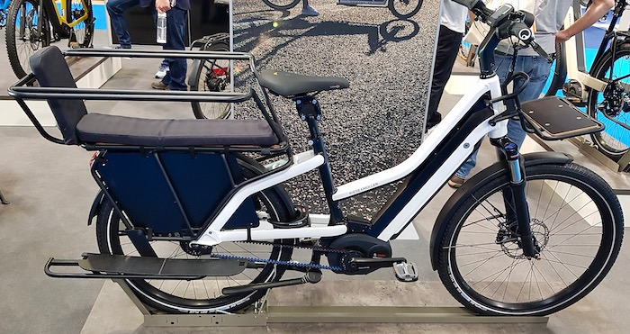 family cargo bikes at the 2019 Cycle Show - Riese & Muller Multicharger