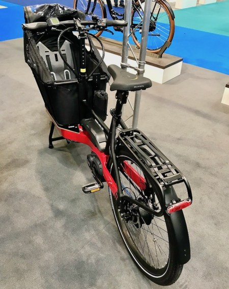 family cargo bikes at the 2019 Cycle Show - Riese & Muller Packster in red