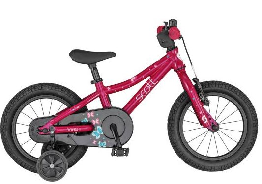 Scott Contessa 14 pink bike with stabilisers for girl aged 3 years old