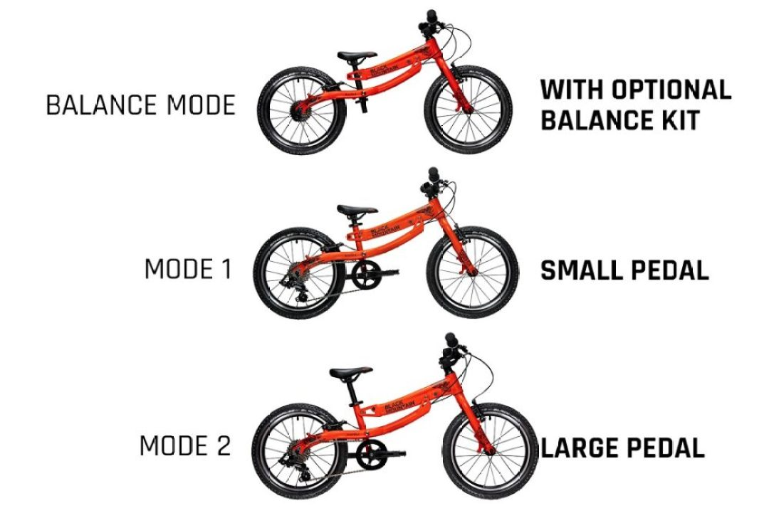 KAPĒL Black Mountain bikes bike that grows with your child