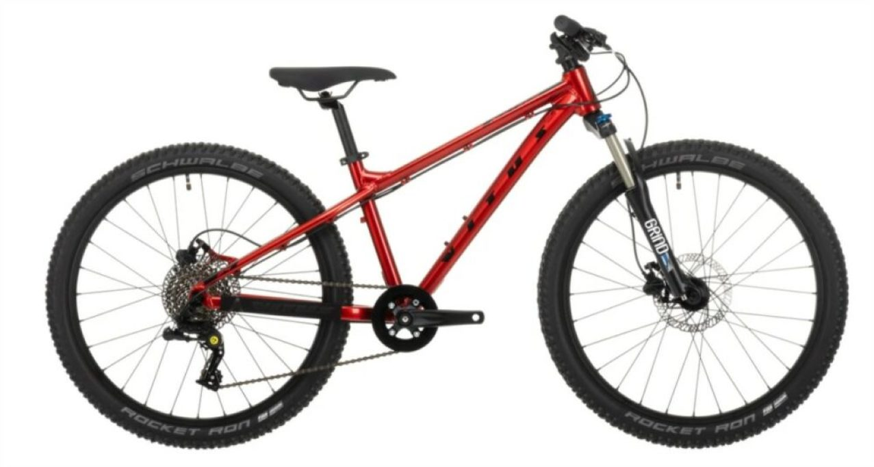 "Vitus Nucleus 24 - a great value, well specificed kids mountain bike with 24"" wheels - perfect for 8 year olds"