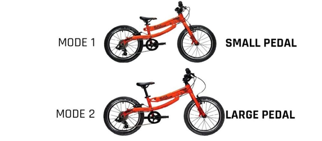 The Black Mountain KAPEL and HUTTO are a bike with an extendable frame so the bike grows with your child