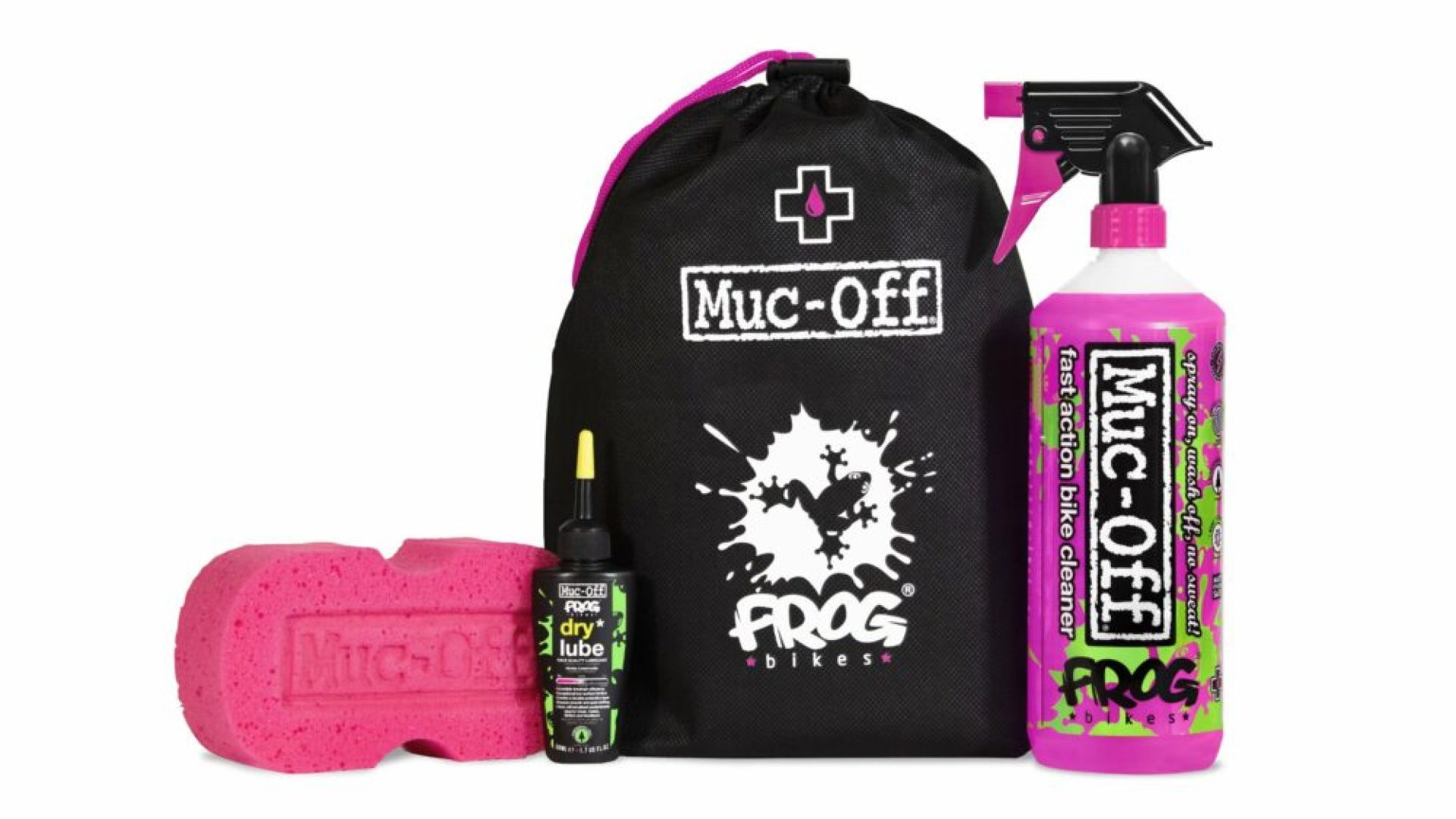 Bike Cleaning kit for kids from Frog Bikes and Muc-Off is a great Christmas gift for kids who like to cycle
