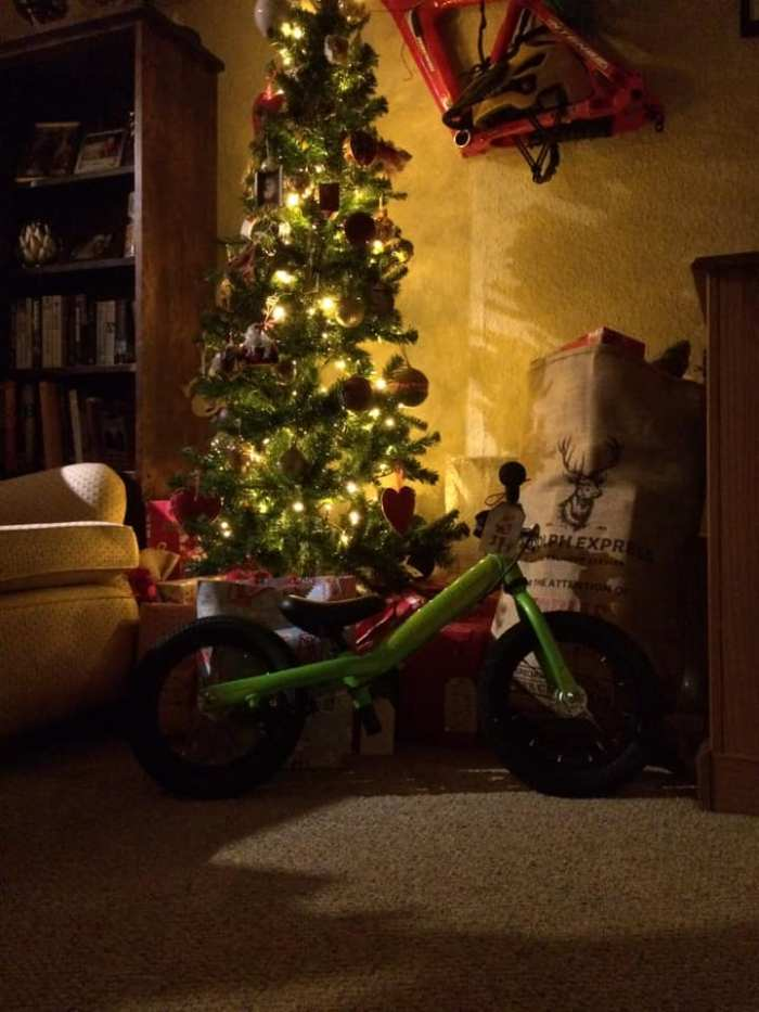 Do I need to wrap my child's bike, or can I just leave it under the Chriistmas tree?